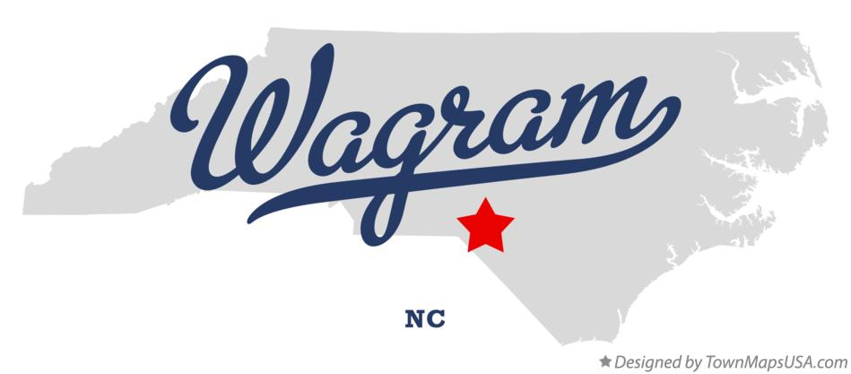 Map of Wagram North Carolina NC