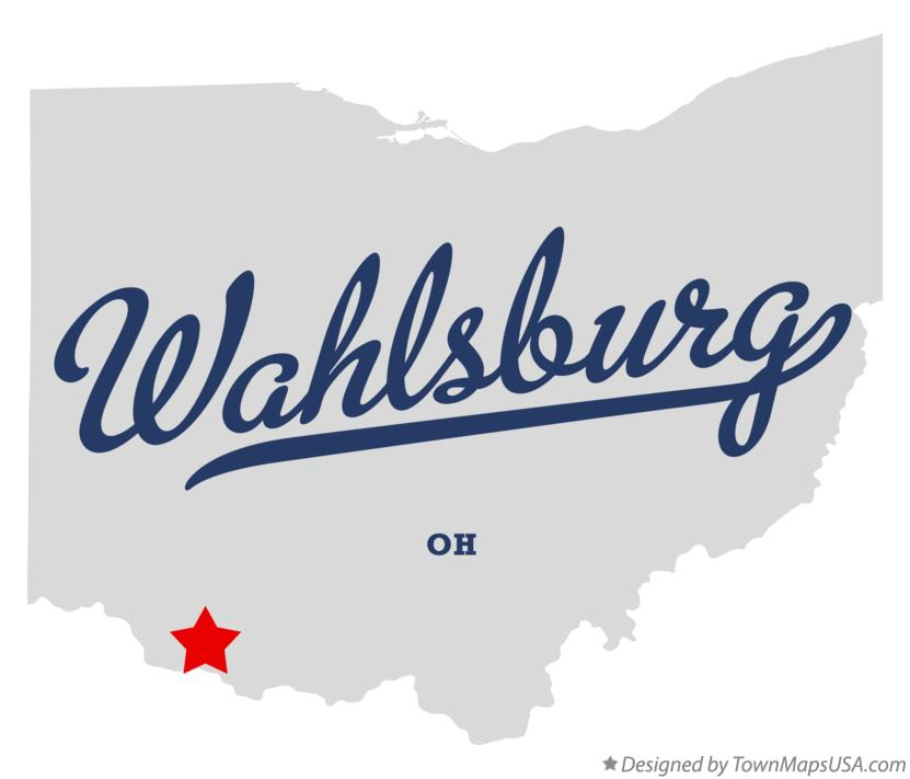 Map of Wahlsburg Ohio OH