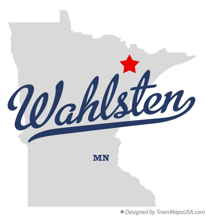 Map of Wahlsten Minnesota MN