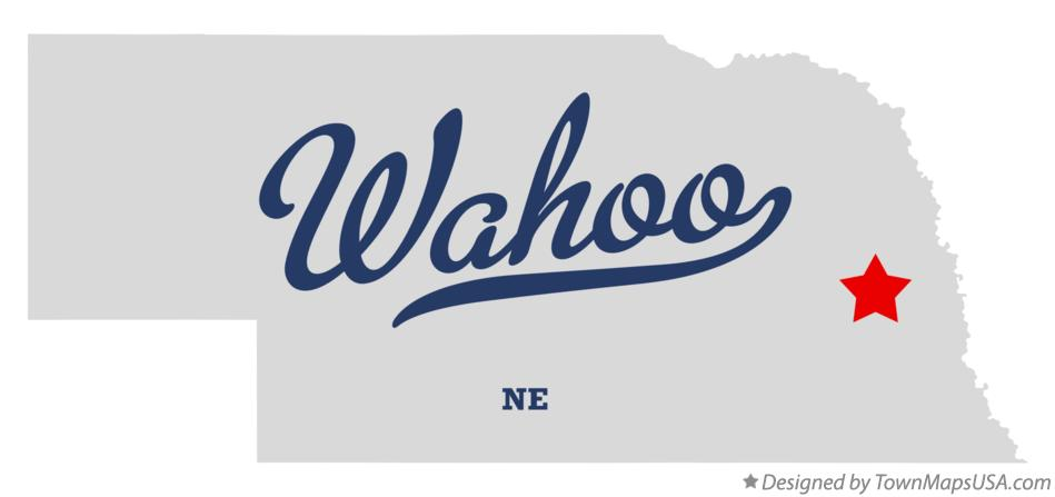 Map of Wahoo Nebraska NE