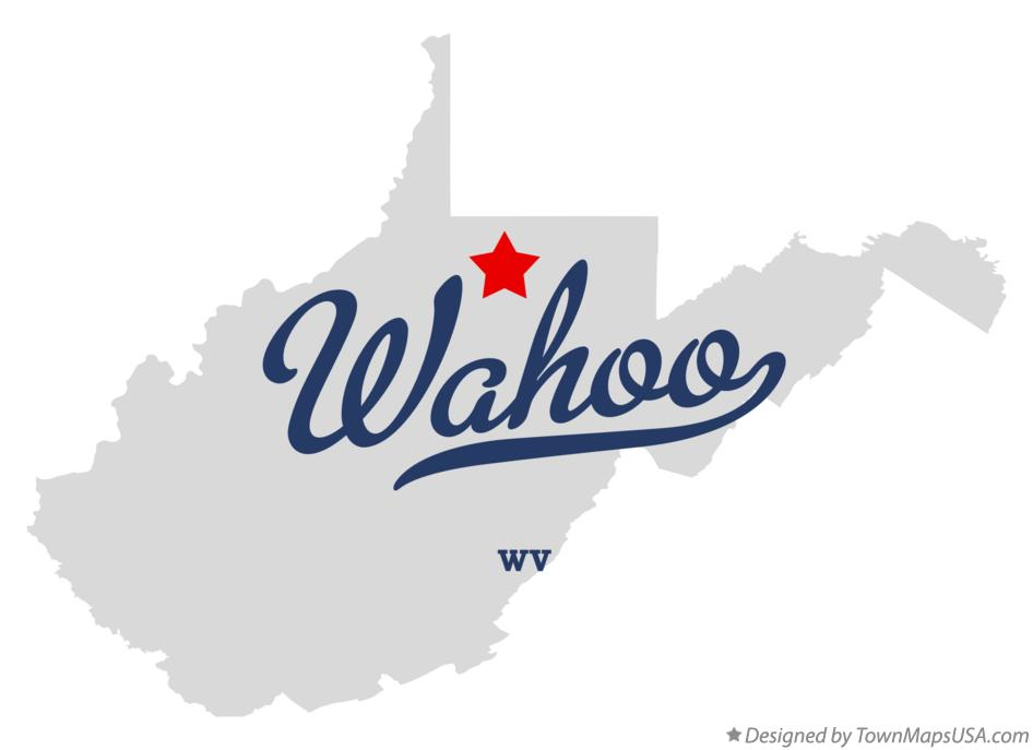 Map of Wahoo West Virginia WV