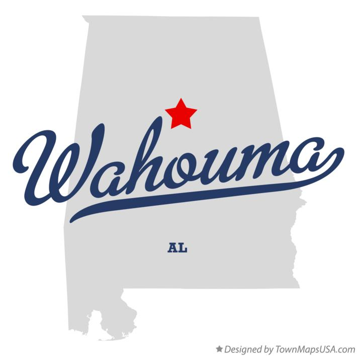 Map of Wahouma Alabama AL