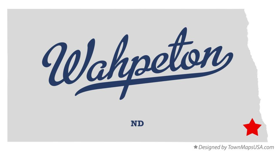 Map of Wahpeton North Dakota ND