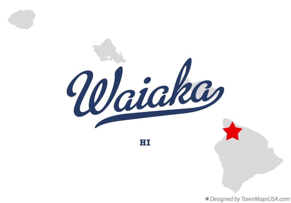Map of Waiaka Hawaii HI