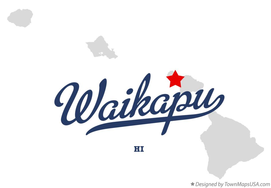 Map of Waikapū Hawaii HI