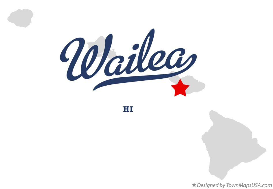 Map of Wailea Hawaii HI