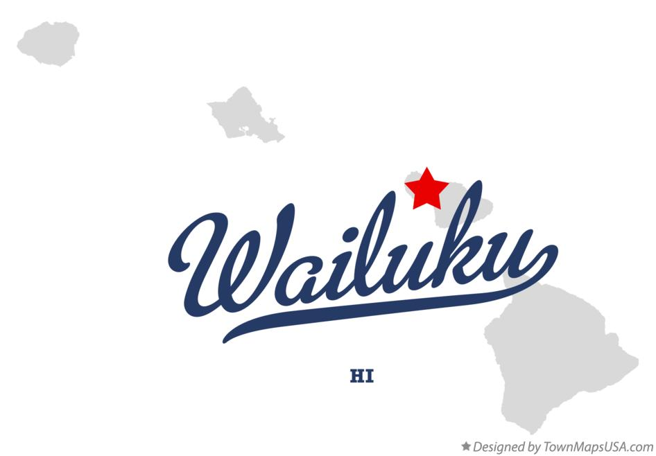 Map of Wailuku Hawaii HI