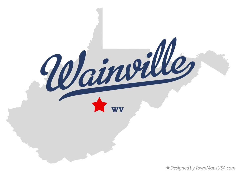 Map of Wainville West Virginia WV