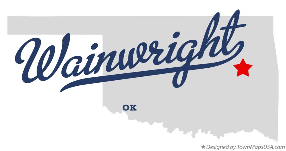 Map of Wainwright Oklahoma OK