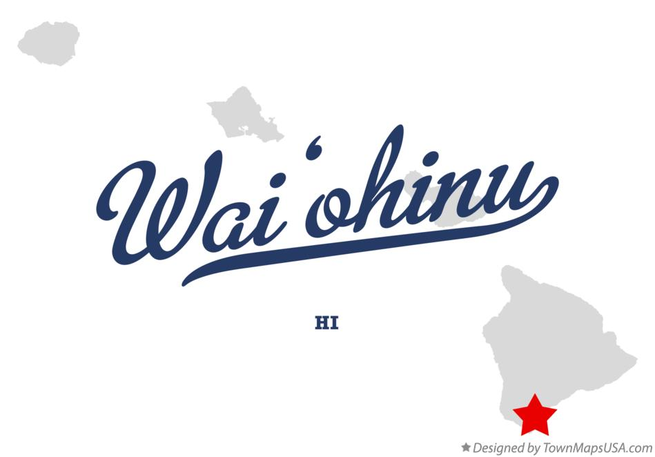 Map of Wai'ōhinu Hawaii HI