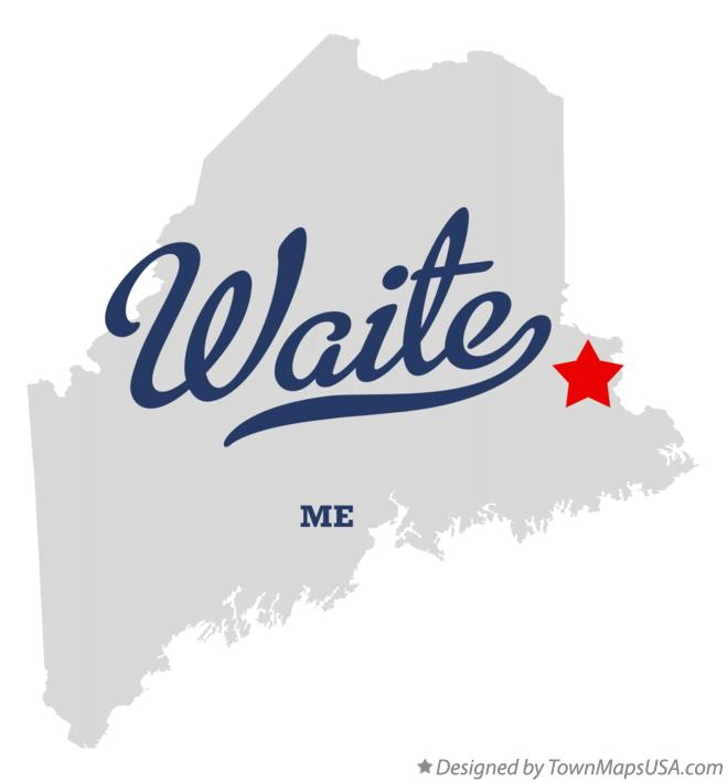 Map of Waite Maine ME
