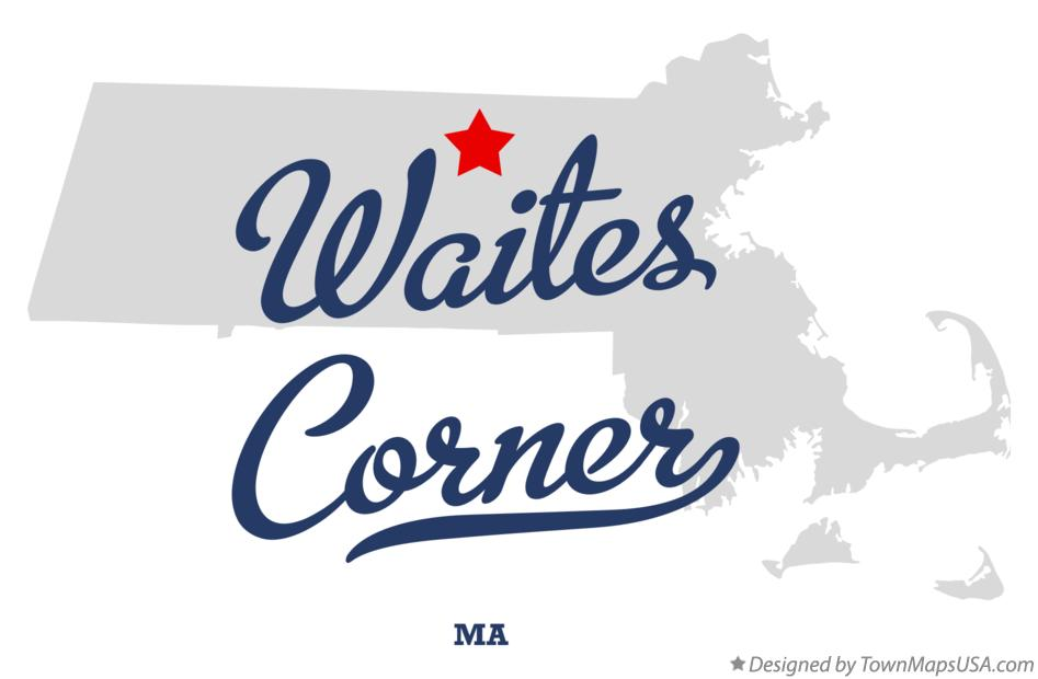 Map of Waites Corner Massachusetts MA