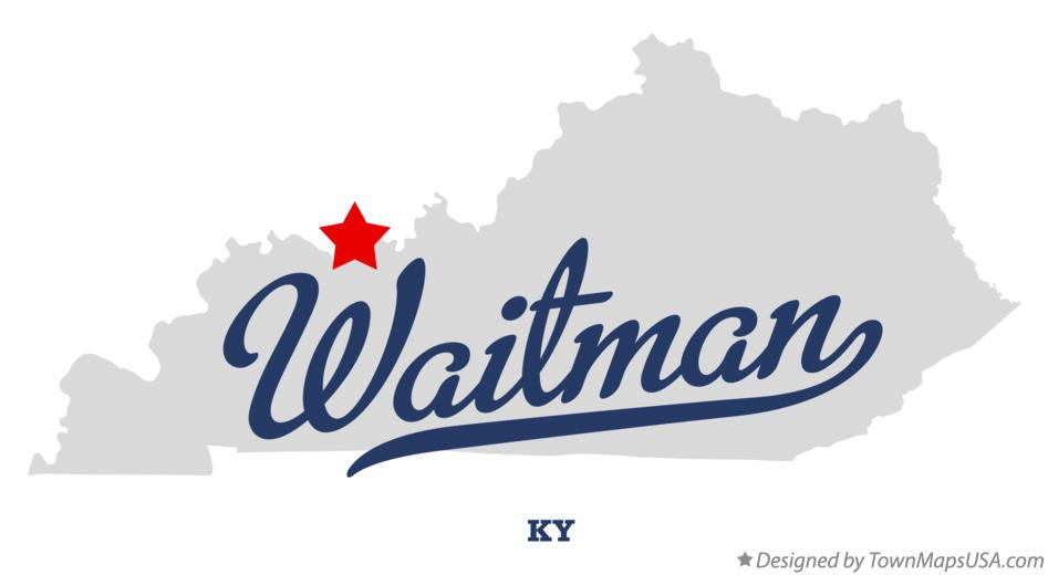 Map of Waitman Kentucky KY