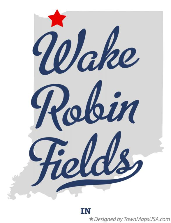 Map of Wake Robin Fields Indiana IN