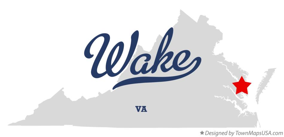 Map of Wake Virginia VA