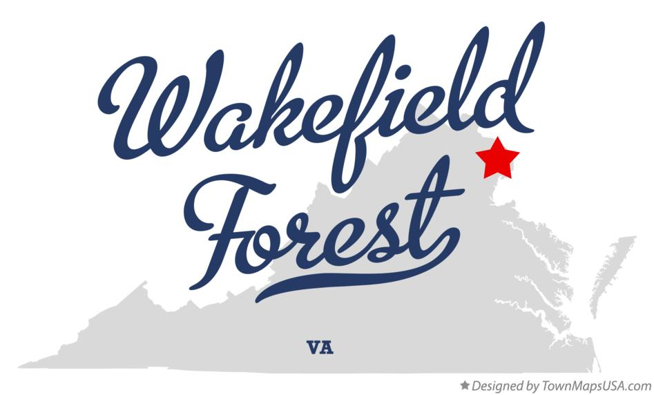 Map of Wakefield Forest Virginia VA