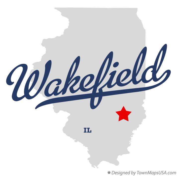 Map of Wakefield Illinois IL