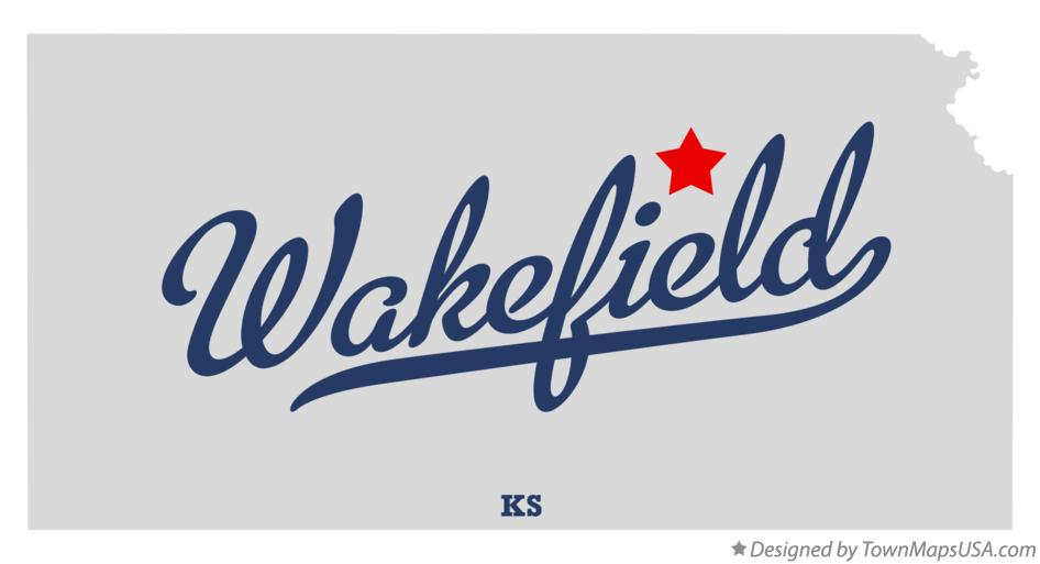 Map of Wakefield Kansas KS