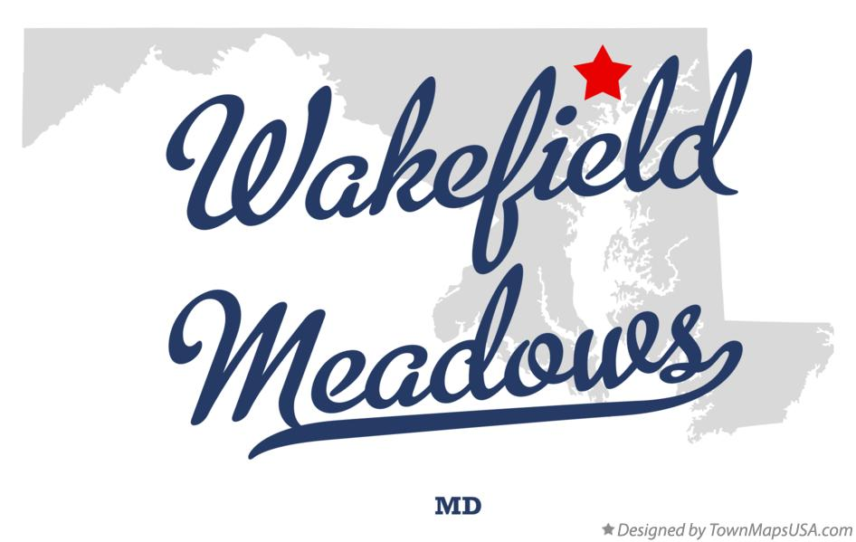 Map of Wakefield Meadows Maryland MD