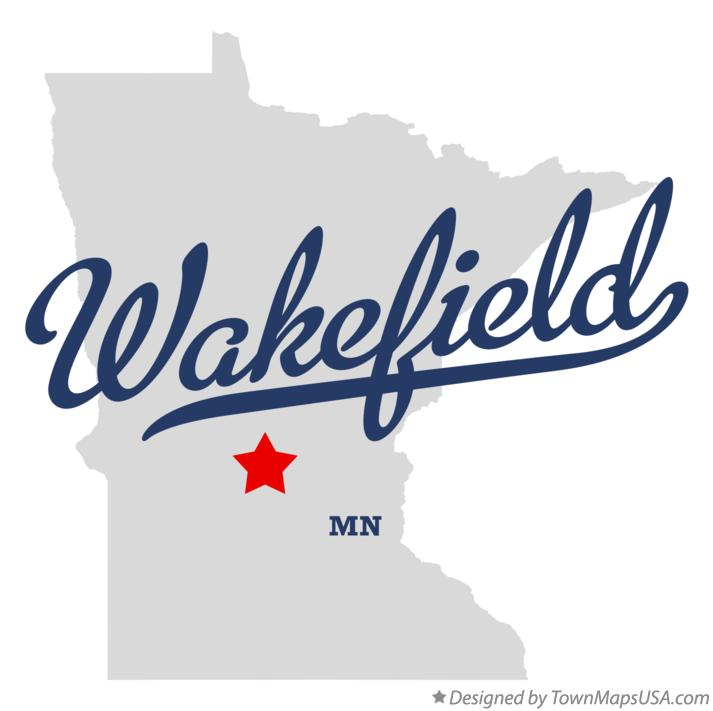 Map of Wakefield Minnesota MN