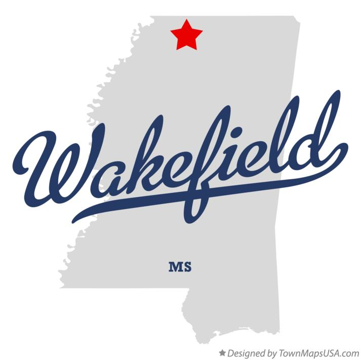 Map of Wakefield Mississippi MS