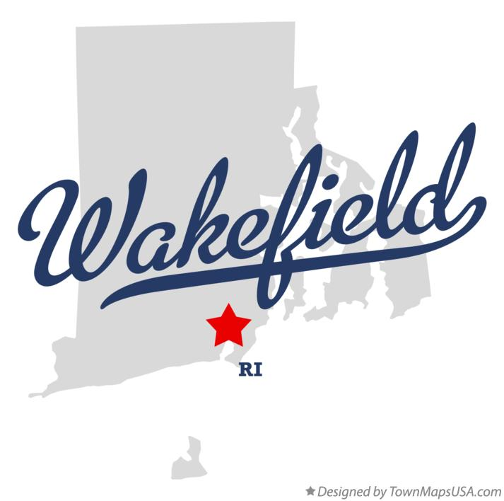 Map of Wakefield Rhode Island RI