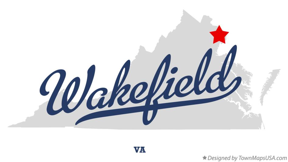 Map of Wakefield Virginia VA