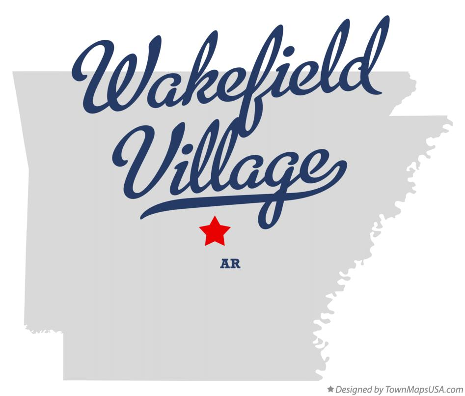 Map of Wakefield Village Arkansas AR