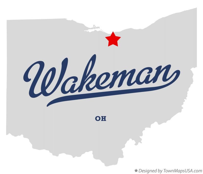 Map of Wakeman Ohio OH