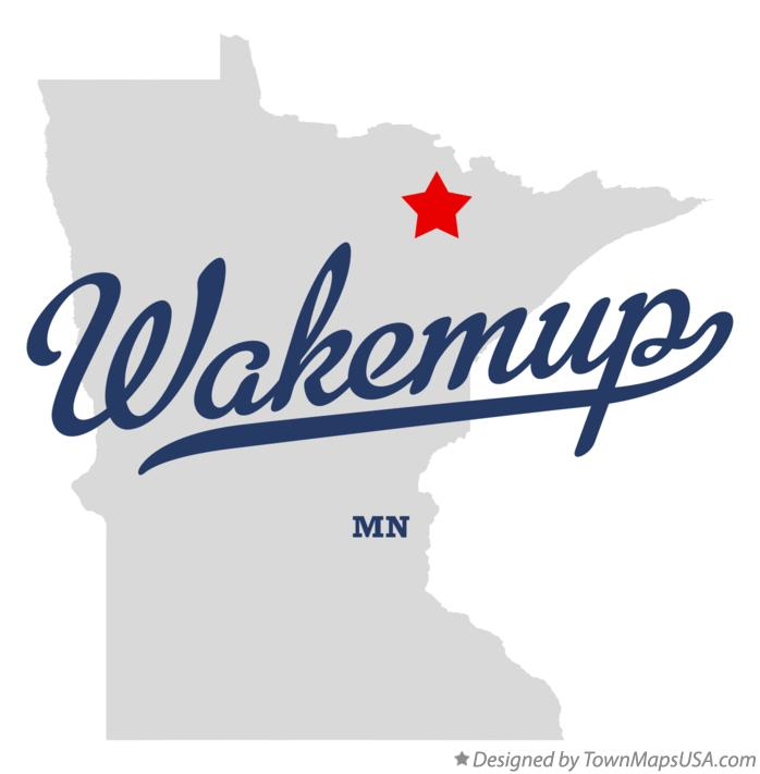 Map of Wakemup Minnesota MN