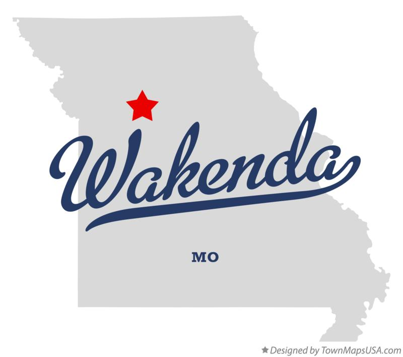 Map of Wakenda Missouri MO