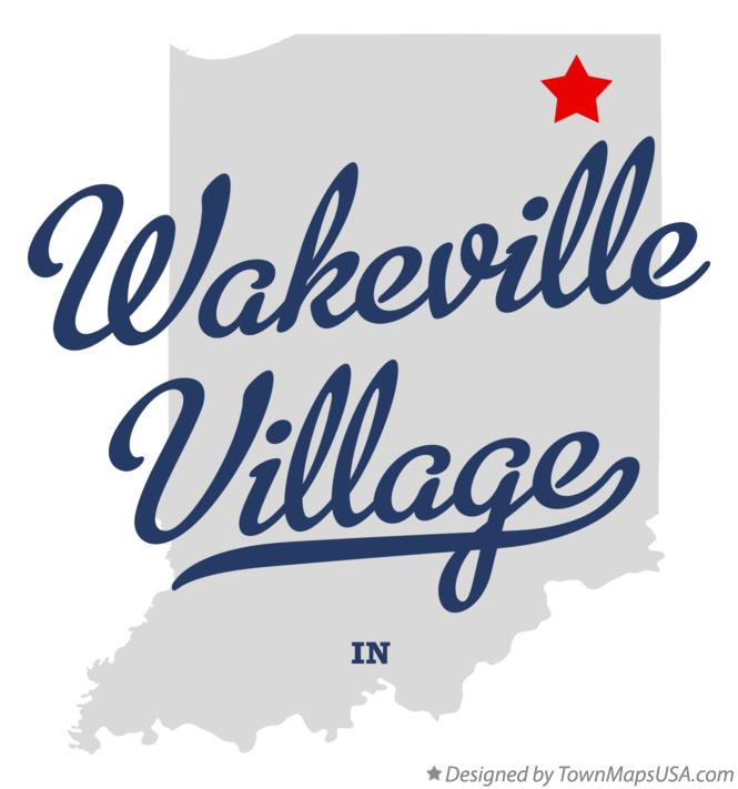 Map of Wakeville Village Indiana IN