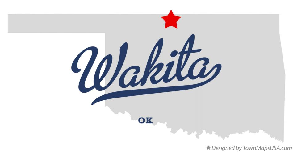 Map of Wakita Oklahoma OK