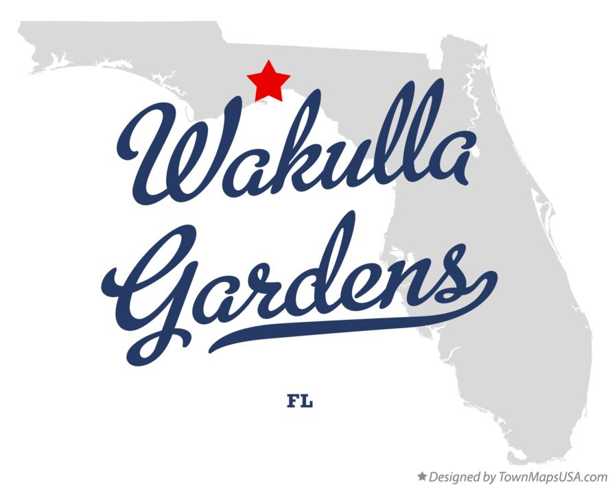 Map of Wakulla Gardens Florida FL