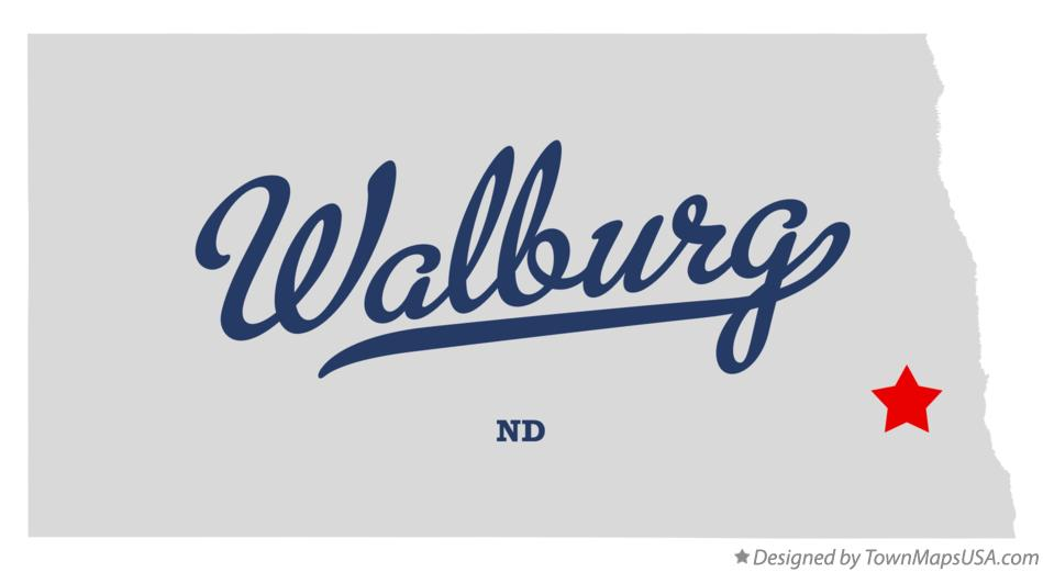 Map of Walburg North Dakota ND