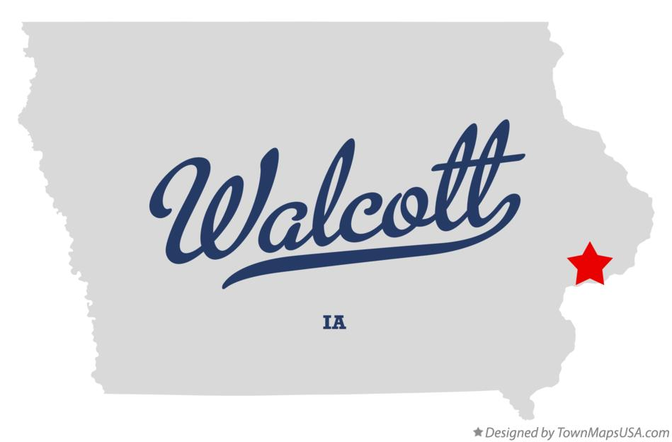 Map of Walcott Iowa IA