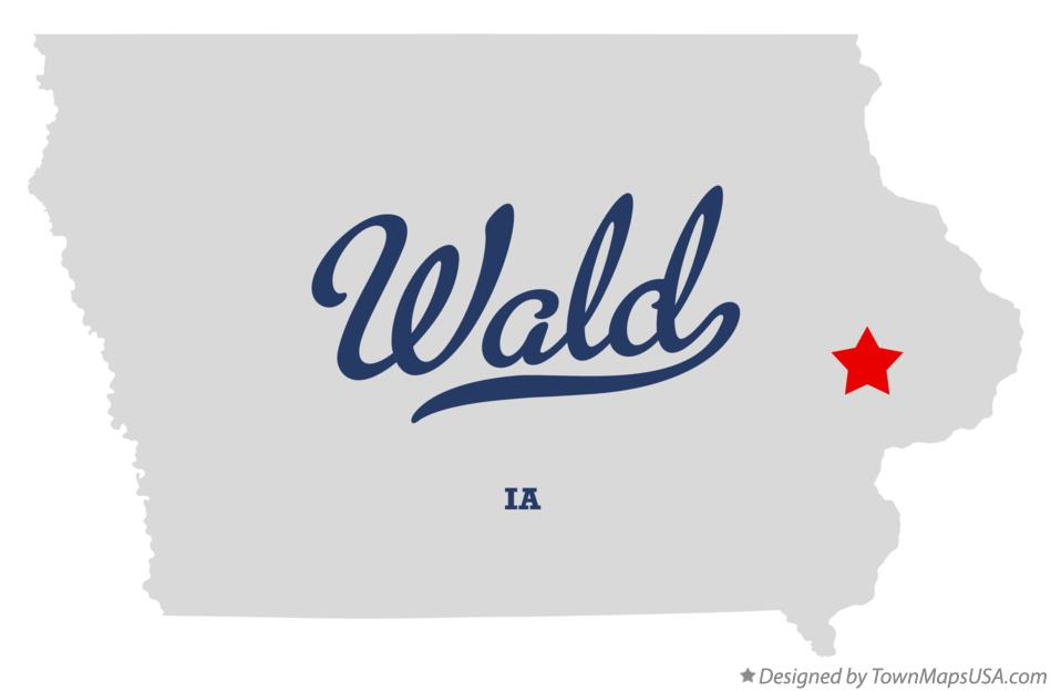 Map of Wald Iowa IA