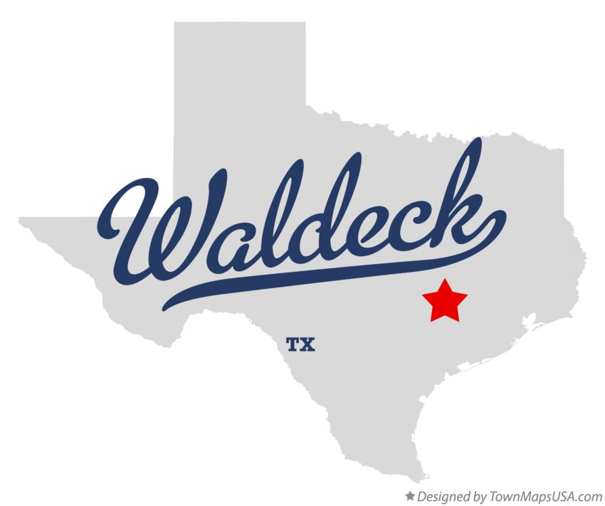 Map of Waldeck Texas TX