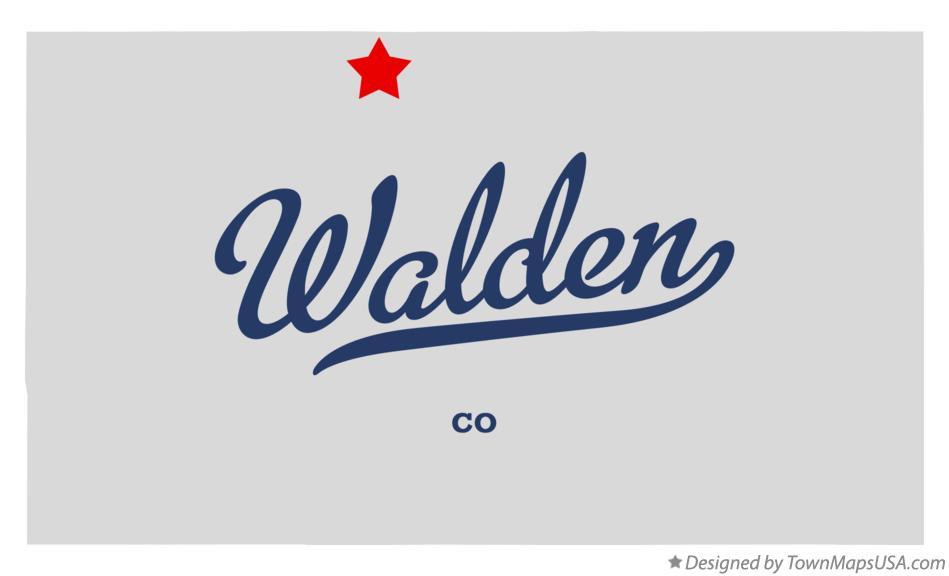 Map Of Walden Co Colorado