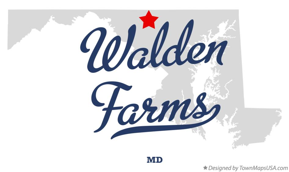 Map of Walden Farms Maryland MD