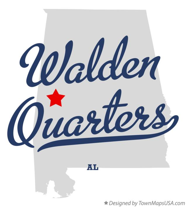 Map of Walden Quarters Alabama AL