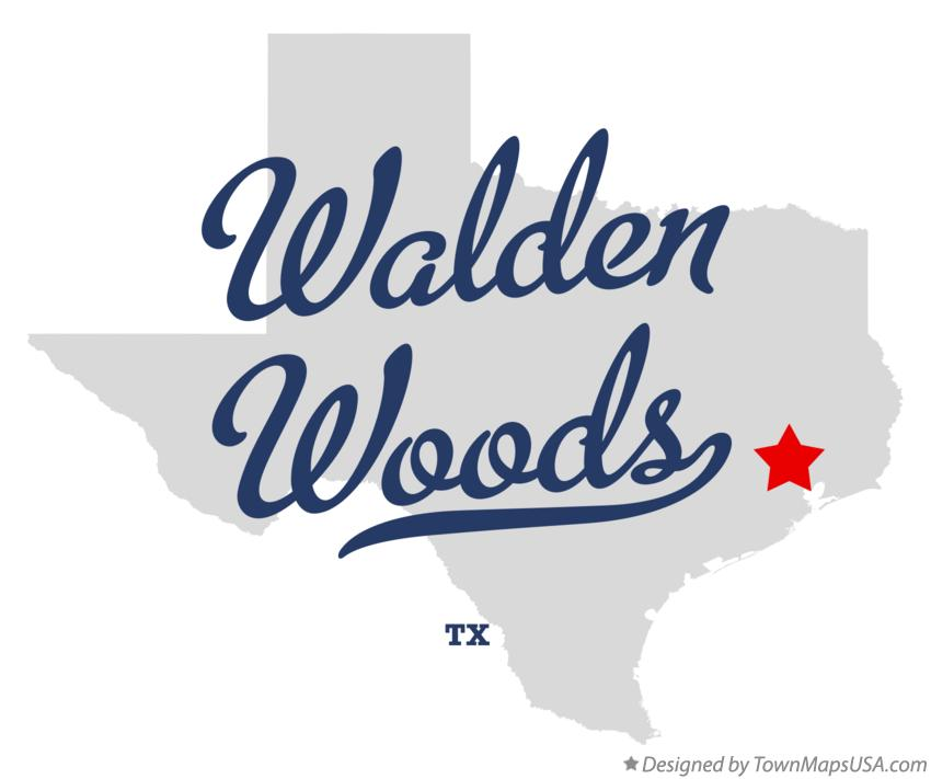 Map of Walden Woods Texas TX