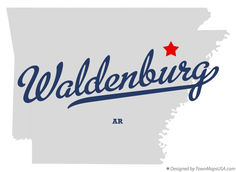 Map of Waldenburg Arkansas AR