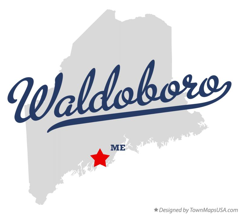 Map of Waldoboro Maine ME
