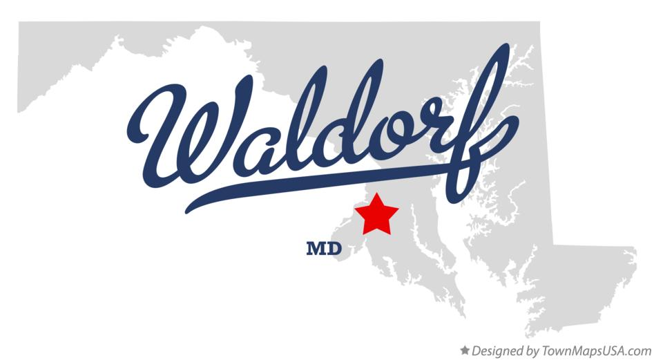 Map of Waldorf Maryland MD