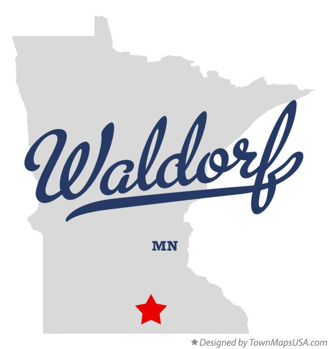 Map of Waldorf Minnesota MN