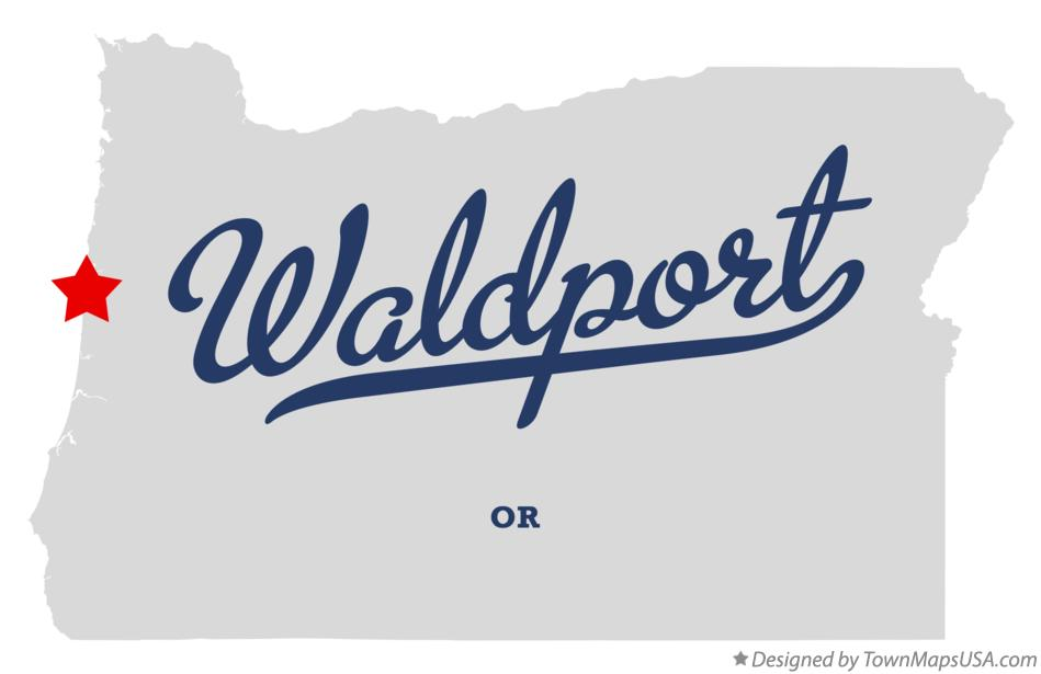 Map of Waldport Oregon OR