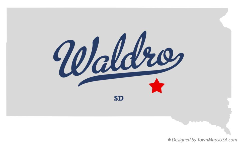 Map of Waldro South Dakota SD