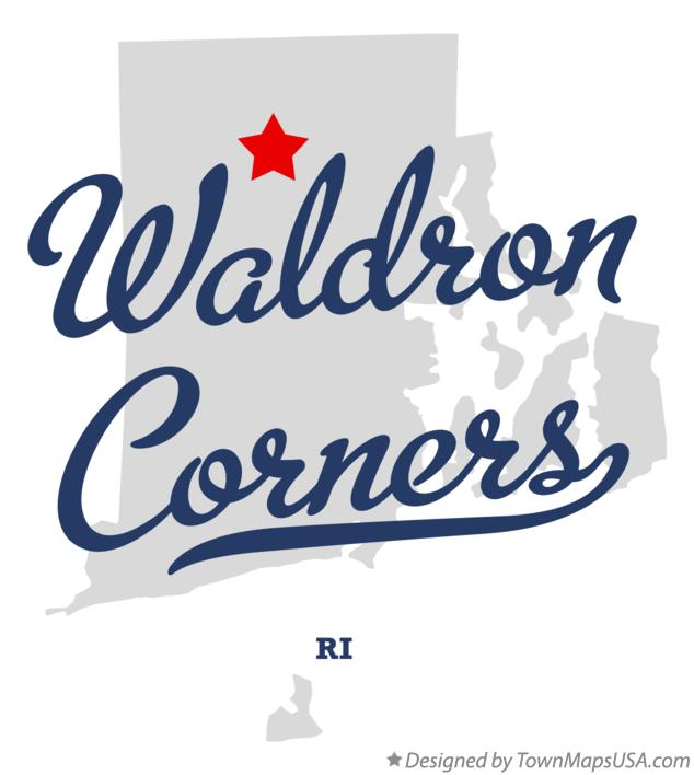 Map of Waldron Corners Rhode Island RI