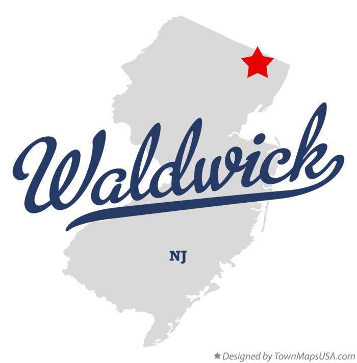 Map of Waldwick New Jersey NJ